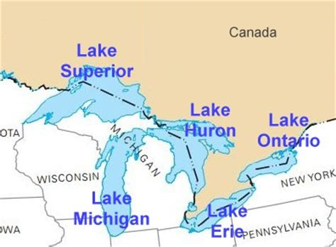 us map states great lakes lakes of the united states by state