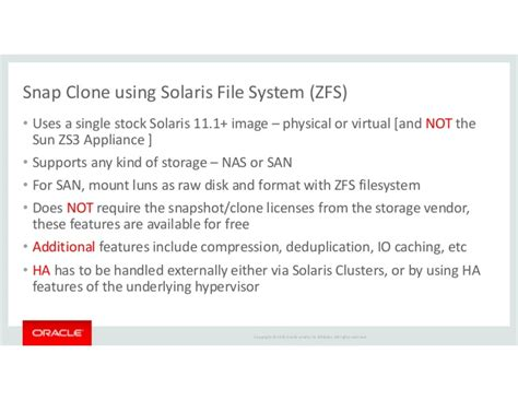 format zfs file system using snap clone with enterprise manager 12c