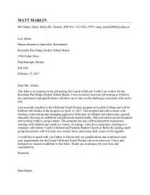 Child Worker Cover Letter by Child And Youth Worker Cover Letter