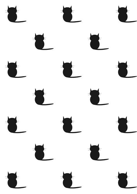 free cat background pattern free printable cat pattern paper blackandwhite free