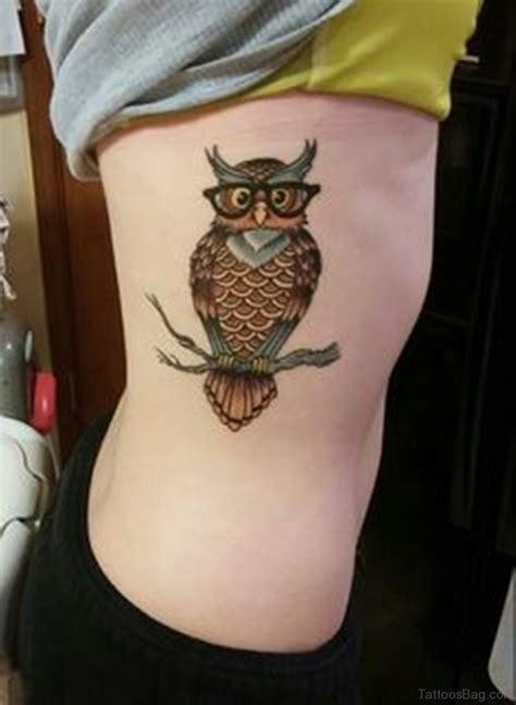 mind blowing owl tattoos  rib