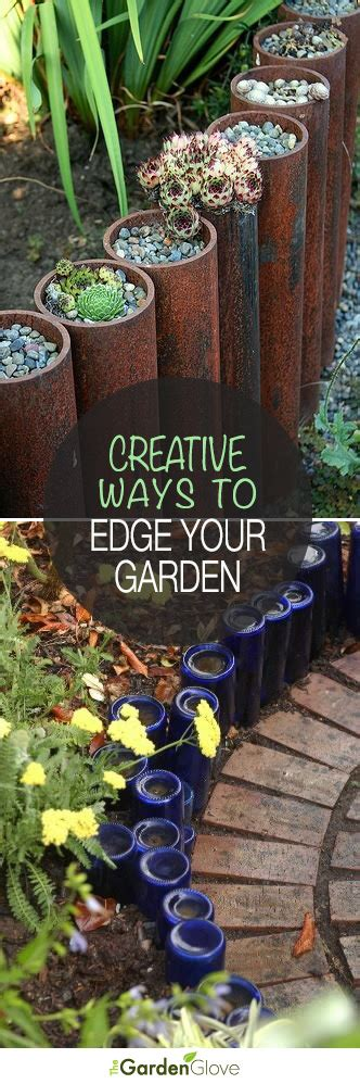 garden edging 5 ways to edge your landscape with recycled materials the garden glove