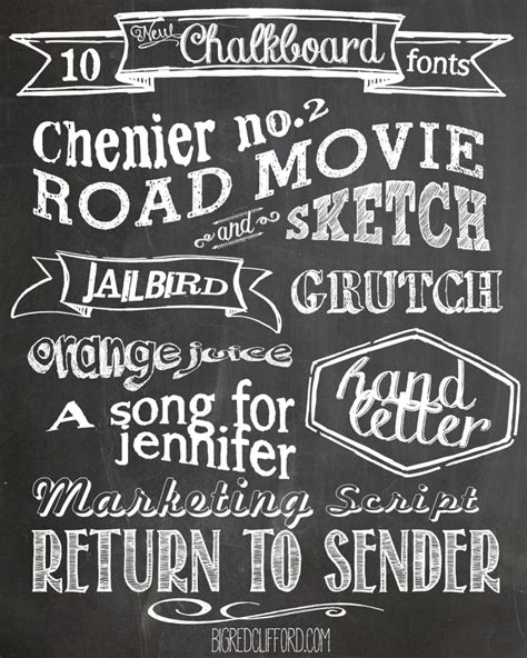 free printable fonts for banners free chalkboard fonts and free printables
