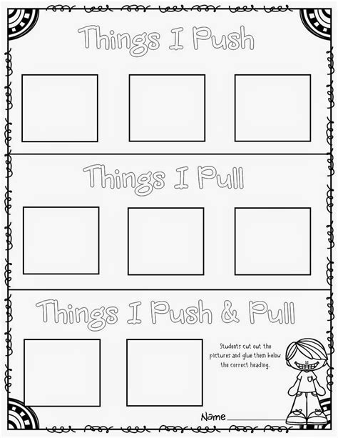 Push And Pull Worksheets For Kindergarten by Mrs Mcginnis Zizzers And Motion Pushes And