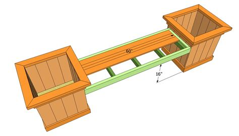 bench planter box plans pdf diy cedar bench planter plans download carport plans