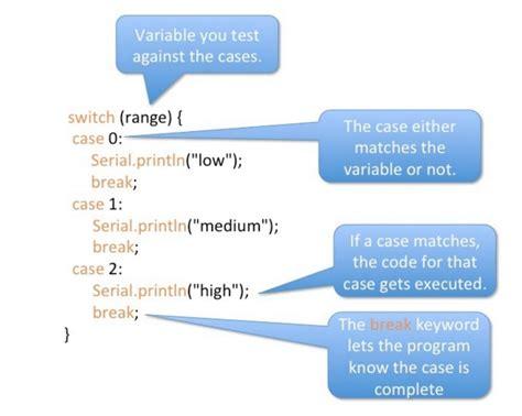 Exle Arduino Switch Case | tutorial 14 5 switch case statement programming