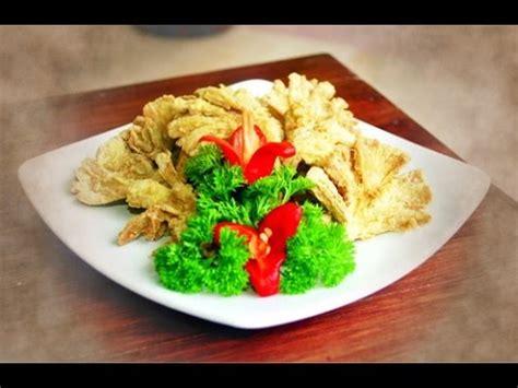 cara membuat risoles isi jamur tiram resep jamur tiram krispi youtube