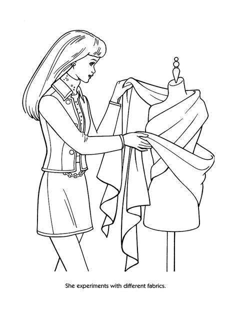 elegant barbie coloring pages fashion coloring pages 26968 bestofcoloring com