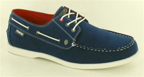 firetrap loafers mens firetrap royal blue micro suede deck shoes loafers