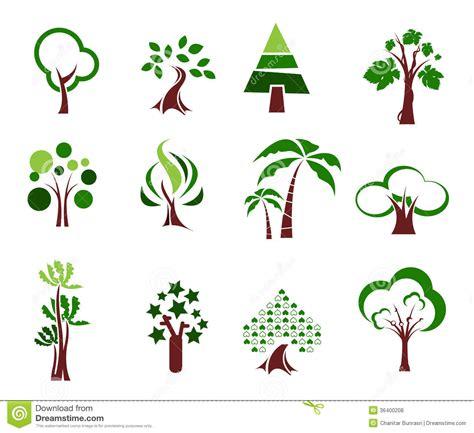 tree icon set royalty free stock photos image 36400208