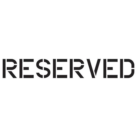 reserved sign template word shop stencil ease plastic painting stencil at lowes