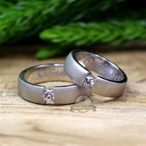 Cincin Nikahan Cincin Satu Pasang cincin kawin palladium p141wg jual cincin palladium