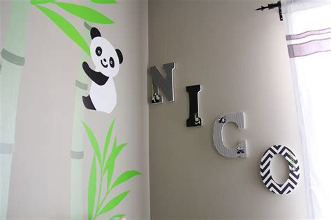 How To Decorate Wooden Letters For Nursery Diy Decorate Wooden Letters For Nursery Popcorn And Pandas