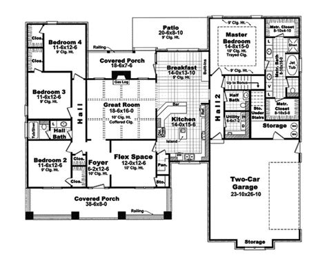 european style house plan 6 beds 4 00 baths 4229 sq ft simple house plans 2400 square feet