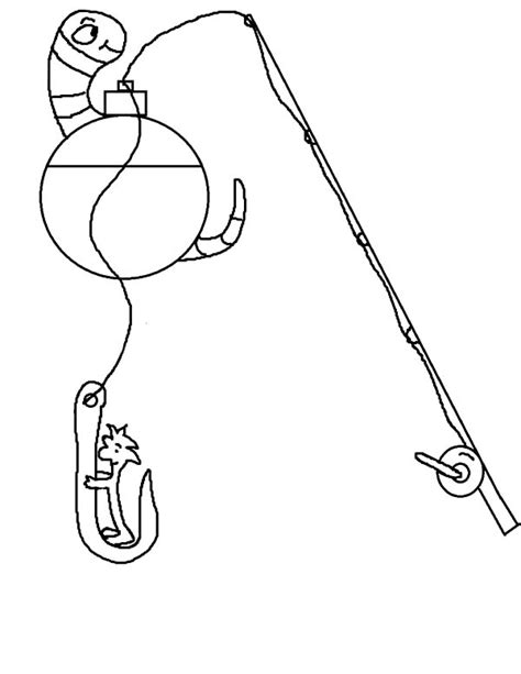 Fishing Pole Coloring Page Coloring Pages Ideas Reviews Fishing Pole Coloring Page