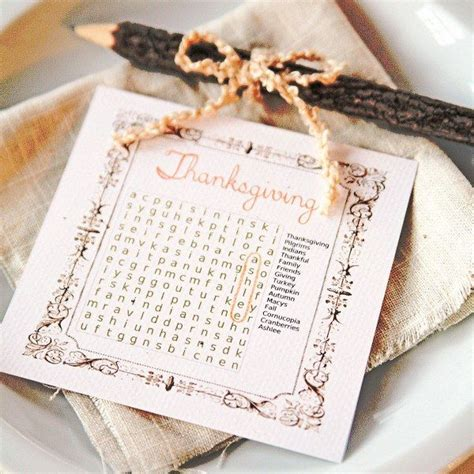 place cards diy 20 lovely diy thanksgiving place cards