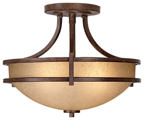 Arts And Crafts Ceiling Lights Arts And Crafts Mission Oak Valley Collection 18 Quot Wide Ceiling Light Fixture Modern