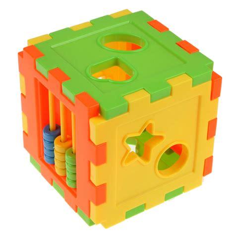 zoetoys big baby intelligence box 1set educational cube bricks animal geometric shape