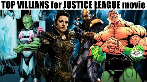 justice league film bad guy top 3 villians for the justice league movie other than