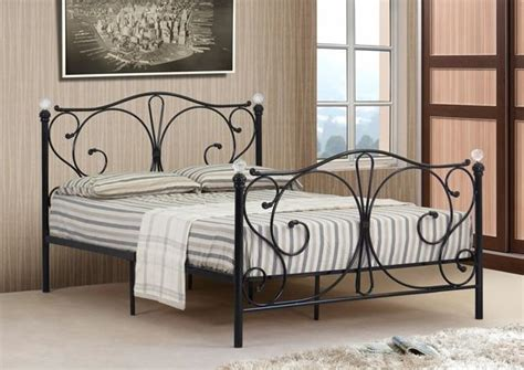 4ft 4ft6 Double 5ft King Black Or White Metal Bed Frame White Metal Bed Frame King