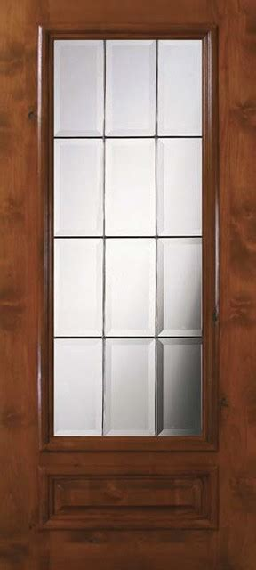 Single Glass Patio Door Slab Single Door 80 Wood Alder 1 Panel 3 4 Lite Glass Modern Patio Doors