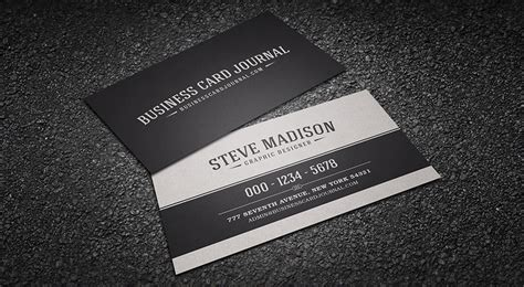 classic black white business card template download