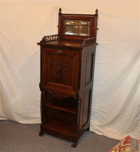Cabinet With Desk Inside bargain s antiques 187 archive cabinet oak
