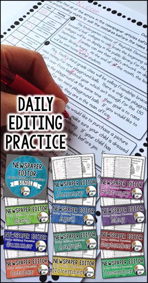 newspaper theme edit improve student writing with daily editing practice