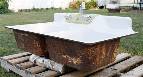 vintage cast iron sink vintage bowl cast iron porcelain kitchen farm sink