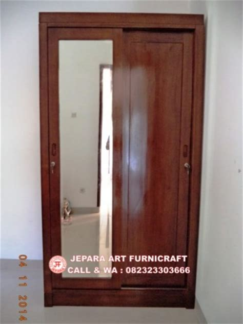 Lemari Kayu Baju 3 Pintu jual lemari baju minimalis jati pintu 2 slide harga murah