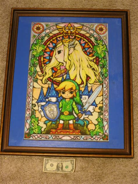 wind waker zelda pattern legend of zelda the wind waker stained glass by wacker00