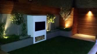 Patio Wall Lighting Ideas Modern Small Garden Design Clapham Battersea Balham Garden