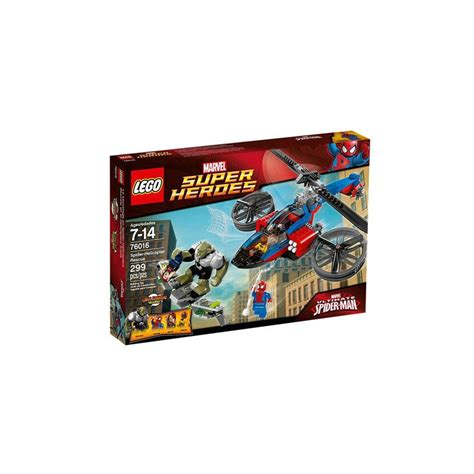 Lego 76016 Spider Helicopter Rescue Lego Heroes 76016 Spider Helicopter Rescue Set New