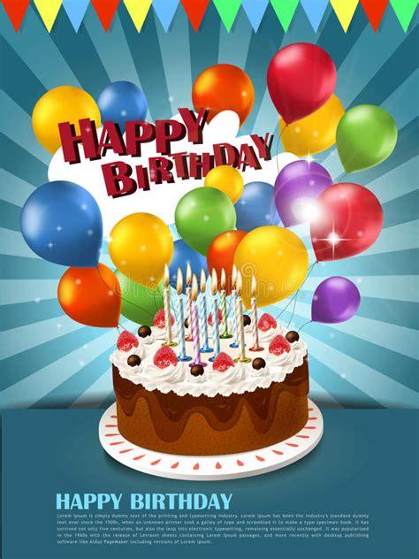 clipart gratis compleanno manifesto di buon compleanno illustrazione vettoriale
