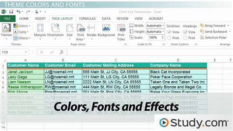 excel edit themes workbook themes applying changing themes in excel