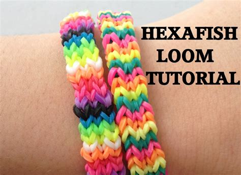 youtube tutorial loom bands hexafish flexafish loom bracelet tutorial rainbow loom l