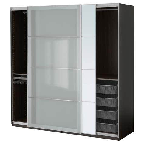 White Cabinets Gray Walls by Pax Wardrobe Black Brown Auli Sekken 200x66x201 Cm Ikea