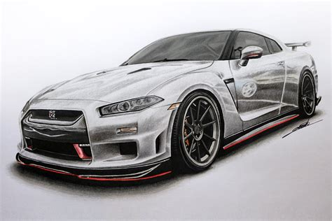 nissan gtr skyline drawing nissan gtr edition r34 concept drawing youtube