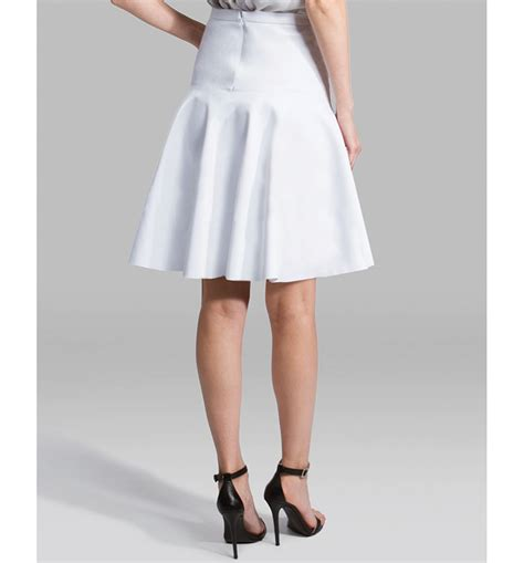 Whita Skirt lyst skirt ponte fit and flare in white
