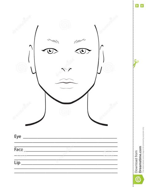 blank makeup face chart template decorativestyle org