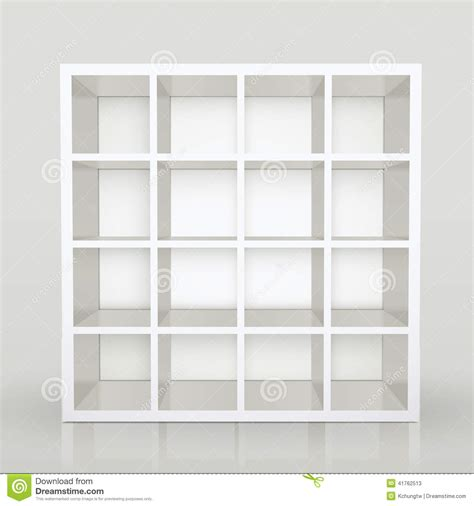 Plans For Bookcase Empty Shelves Blank Bookcase Library Stock Vector Image