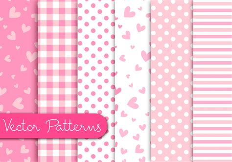 pink pattern free vector romantic pink patterns download free vector art stock