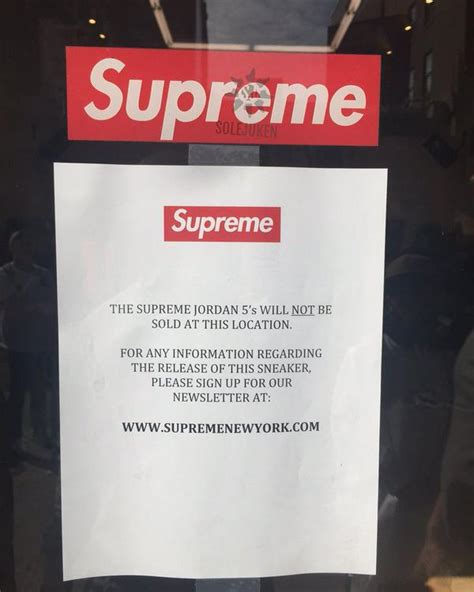 supreme store locations air 5 supreme not releasing in store sneaker bar
