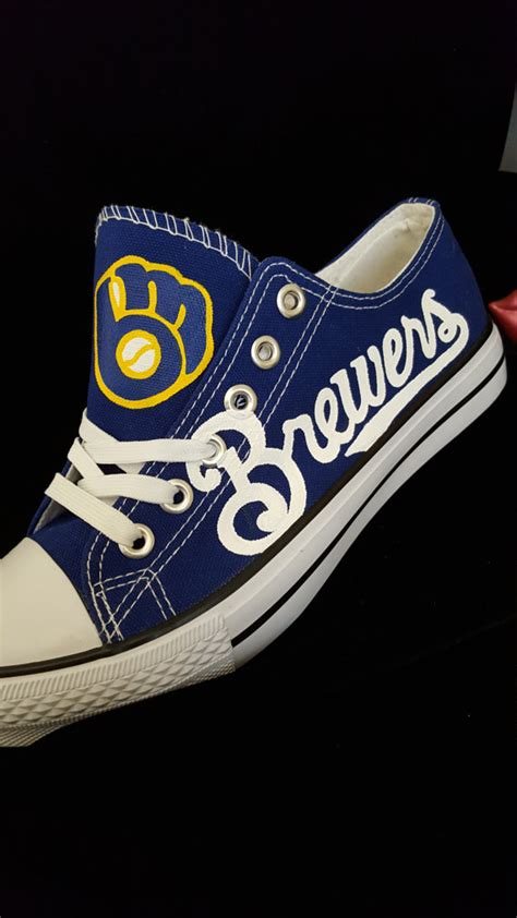 custom throwback milwaukee brewers and painted