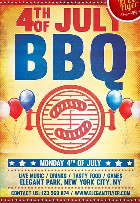 fourth of july flyer template free the 4th of july bbq free flyer template