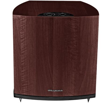 wharfedale powercube spc  rosewood quilted subwoofer