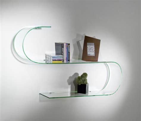 mensole di vetro per arredamento mensole design in vetro trasparente curvato curvo surf