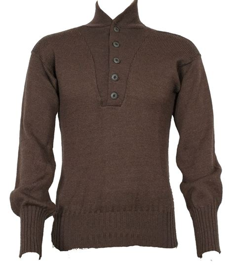 Sweater Button Navy 1 Gi 5 Button Sweater Brown Od Green Genuine Us