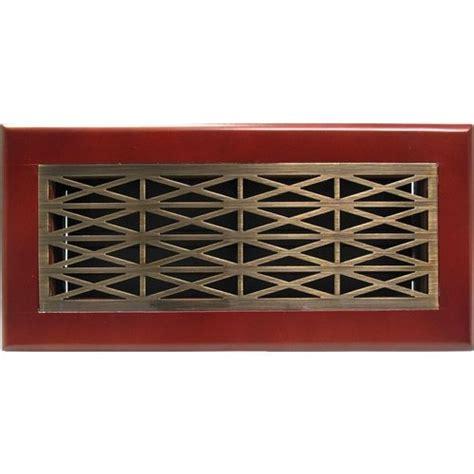 decorative wall register trellis antique brass cherry frame floor register floor