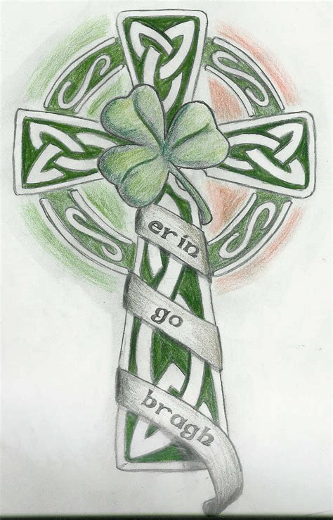 shamrock cross tattoo erin go bragh by tkilljoy on deviantart